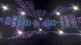 Musik-Raum und Wellen, mit Anmerkungen, Glühlampe-Animation, Wiedergabe, Hintergrund, Schleife stock video footage