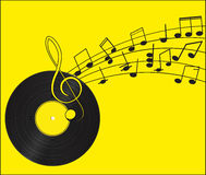 musik registrerad vinyl Royaltyfria Bilder