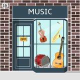 Musik shoppar royaltyfri illustrationer