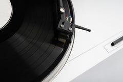 musik som leker registrerad turntablevinyl Arkivfoton
