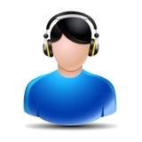 Musik som lyssnar   Royaltyfria Bilder