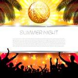 Musik-Sommer-Hintergrund - Vektor Lizenzfreie Stockbilder