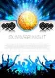 Musik-Sommer-Hintergrund - Vektor Lizenzfreie Stockfotos