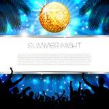 Musik-Sommer-Hintergrund - Vektor Lizenzfreie Stockfotografie