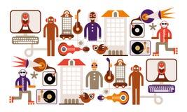 Musik-Stadt lizenzfreie abbildung