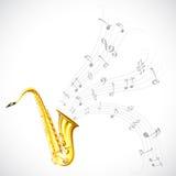 Musik trimmar från saxofonen Royaltyfri Foto