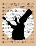Musik und Chefillustration Stockfoto