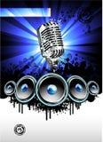 Musik und Disco-Hintergrund Stockfotos