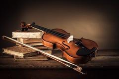 Musik- und Kunststillleben Stockfotos