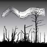 Musik-und Natur-Hintergrund Lizenzfreie Stockfotografie