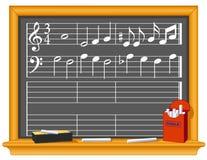 Musik und Tafel Lizenzfreie Stockbilder