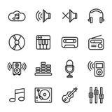 Musik-und Ton Ikonen Stockbilder