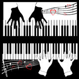 Musik in vier Handtönen   Lizenzfreies Stockbild