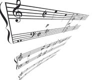 Musik-Winkel-Perspektive Stockbilder