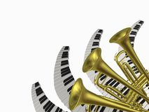 Musik zwei lizenzfreie stockfotografie