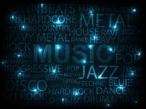 musikaffisch Arkivfoton
