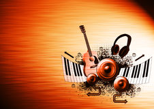 Musikaffischbakgrund vektor illustrationer