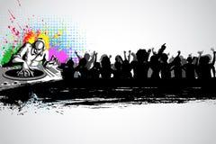 musikal för bakgrundsdiskojockey royaltyfri illustrationer