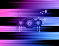 musikal för bakgrundshändelsereklamblad Arkivbilder