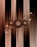 musikal för bakgrundshändelsereklamblad Arkivfoton