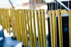 musikal för instrument för hand för stångklockachimes Arkivfoton