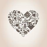 Musikal heart8 Royaltyfri Foto