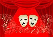 Musikal Theatre stock illustrationer