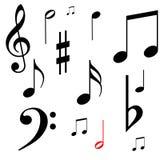 musikalanmärkningar Arkivfoto
