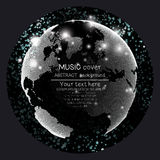 Musikalbum-Abdeckung Schabloneen Weltkugel, global lizenzfreie abbildung