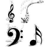 Musikaldesignuppsättning Arkivfoton