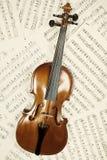 musikalen bemärker den gammala fiolen Arkivfoton