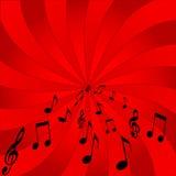 Musikalen noterar Royaltyfri Fotografi