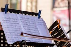Musikalen noterar Royaltyfria Foton