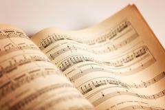 Musikalen noterar royaltyfria bilder