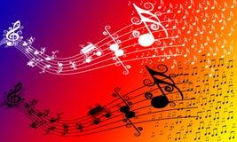 Musikalen noterar Royaltyfri Bild