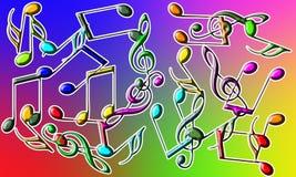 Musikalen noterar Royaltyfri Foto