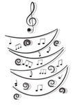 Musikalen noterar. Fotografering för Bildbyråer