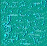 Musikalen noterar. royaltyfri illustrationer