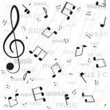 Musikalen noterar. stock illustrationer
