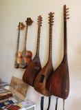 Musikalinstrumenten van Azerbeidzjan in het Museum Stock Afbeeldingen
