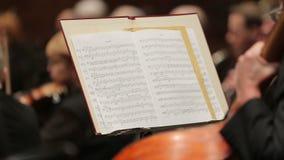 Musikalische Anmerkungen über Papier stock footage