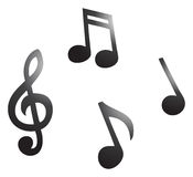 Musikalische Anmerkungen Lizenzfreies Stockfoto