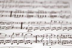 Musikalische Anmerkungen Stockfotografie