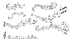 Musikalische Anmerkungen Stockbild