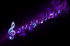 Musikalische Anmerkungen Stockfoto