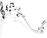 Musikalische Anmerkungen stock abbildung