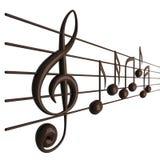Musikalische Anmerkungen Lizenzfreies Stockbild