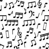 Musikalische Anmerkungen, nahtlose Muster-Hintergrund-Vektor-Illustration lizenzfreie stockbilder