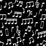 Musikalische Anmerkungen, nahtlose Muster-Hintergrund-Vektor-Illustration stockfotografie
