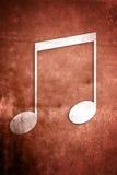Musikalische Anmerkungen: Reihe 3 von 3 Stockfoto